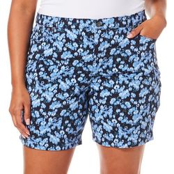 Gloria Vanderbilt Plus Amanda Floral Denim Shorts