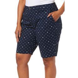 Gloria Vanderbilt Plus Star Print Nimah Bermuda Shorts