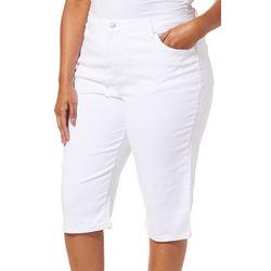 Gloria Vanderbilt Plus Amanda Solid Skimmer Shorts