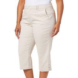 Gloria Vanderbilt Plus Violet Slim Fit Solid Capris
