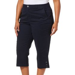 Gloria Vanderbilt Plus Violet Slim Fit Solid Capris