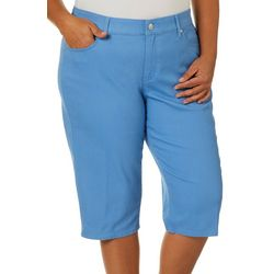Gloria Vanderbilt Plus Solid Comfort Curvy Skimmer Shorts