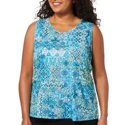 Gloria Vanderbilt Plus Kiera Tile Kingdom Embellished Top