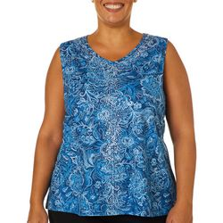 Gloria Vanderbilt Plus Kiera Lighted Floral Embellished Top