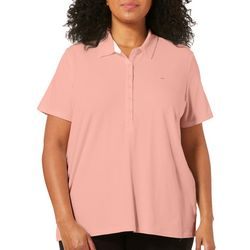 Gloria Vanderbilt Plus Annie Short Sleeve Polo Shirt