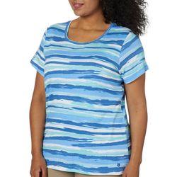 Gloria Vanderbilt Plus Margaret Painted Stripe Top