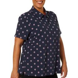 Gloria Vanderbilt Plus Annie Life Preserver Polo Shirt
