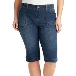 Gloria Vanderbilt Plus Bianca Denim Capris