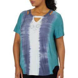 Gloria Vanderbilt Plus Clarissa Tie Dye Top