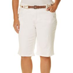 Gloria Vanderbilt Plus Joslyn Braided Belt Bermuda Shorts