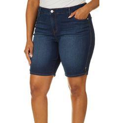 Gloria Vanderbilt Plus Midrise Jean Bermuda Shorts