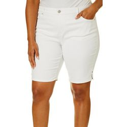 Gloria Vanderbilt Plus Misrise Bermuda Shorts