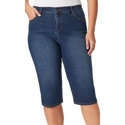 Gloria Vanderbilt Plus Amanda Denim Skimmer Bermuda Shorts