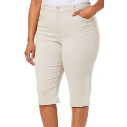 Gloria Vanderbilt Plus Amanda Art Motif Skimmer Shorts