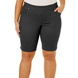 Gloria Vanderbilt Plus Avery Pull On Bermuda Shorts