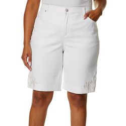 Gloria Vanderbilt Plus Amanda Rose Hem Bermuda Shorts