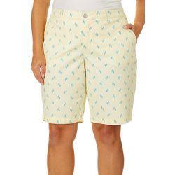 Gloria Vanderbilt Plus Flip Flop Print Nimah Bermuda Shorts