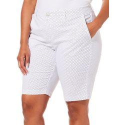 Gloria Vanderbilt Plus Polka Dot Nimah Bermuda Shorts