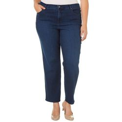 Gloria Vanderbilt Plus Amanda Solid Stretch Slimming Jeans
