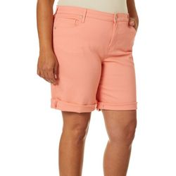 Gloria Vanderbilt Plus City Roll Cuff Denim Shorts