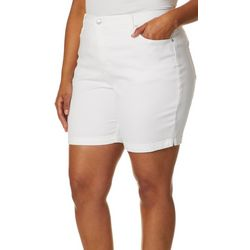 Gloria Vanderbilt Plus Amanda Solid Denim Shorts