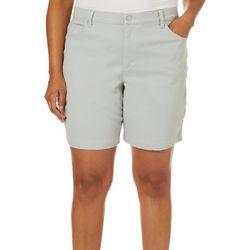 Gloria Vanderbilt Plus Amanda Solid Denim Shorts