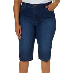 Gloria Vanderbilt Plus Amanda Skimmer Denim Shorts