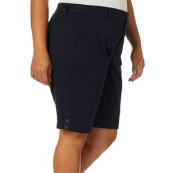 Gloria Vanderbilt Plus Violet Solid Shorts