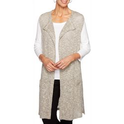 Ruby Road Favorites Plus Heathered Knit Sleeveless Vest