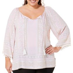 Ruby Road Favorites Plus Silky Fuji Tassel Top