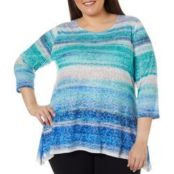 Ruby Road Favorites Plus Soft Stripe Print Sharkbite