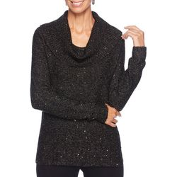 Ruby Road Favorites Plus Solid Shimmer Cowl Neck Top