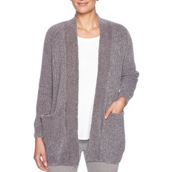 Ruby Road Favorites Plus Luster Chenille Open Front Cardigan