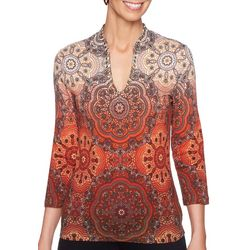 Ruby Road Favorites Plus Embellished Neck Top