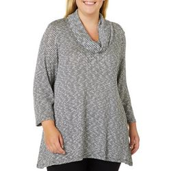 Ruby Road Favorites Plus Cowl Neck Shimmer Sweater