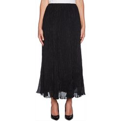 Ruby Road Favorites Plus Metallic Crinkle Maxi Skirt
