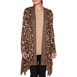 Ruby Road Favorites Plus Leopard Print Longline Cardigan