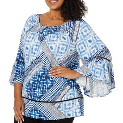 Ruby Road Favorites Plus Patchwork Print Tunic Top