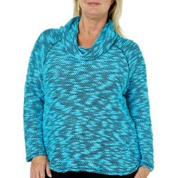 Ruby Road Favorites Plus Knit Cowl Neck Sweater