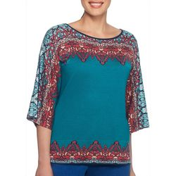 Ruby Road Favorites Plus Tapestry Pullover Sweater