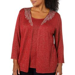 Ruby Road Favorites Plus Solid Embellished Duet Top