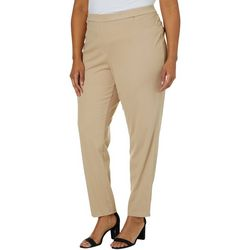 Ruby Road Favorites Plus Pull On Stretch Knit Twill Pants