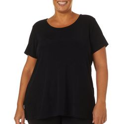 Como Voyage Plus Solid Round Neck Short Sleeve