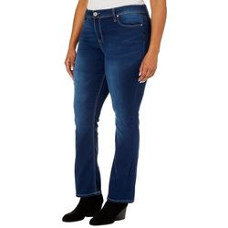 Hydraulic Plus Contrast Stitched Curvy Fit Boot Cut Jeans