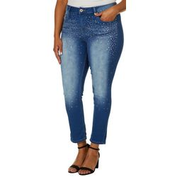 Hydraulic Plus Embellished Denim Crop Jeans
