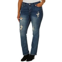 Hydraulic Plus Lola Curvy Micro-Boot Cut Denim Jeans
