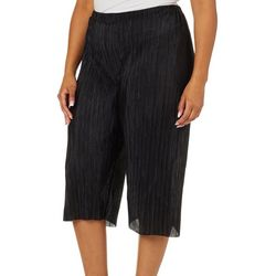 Coco's Closet Plus Solid Pleated Gaucho Pants