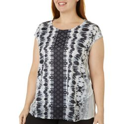 OneWorld Plus Bling Print Top