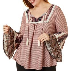 OneWorld Plus Peasant Long Sleeve Top