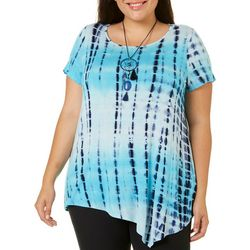OneWorld Plus Tie Dye Asymmetrical Hem Top